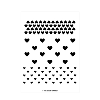 The Stamp Market HEART TO HEART Clear Stamp Set tsm085*