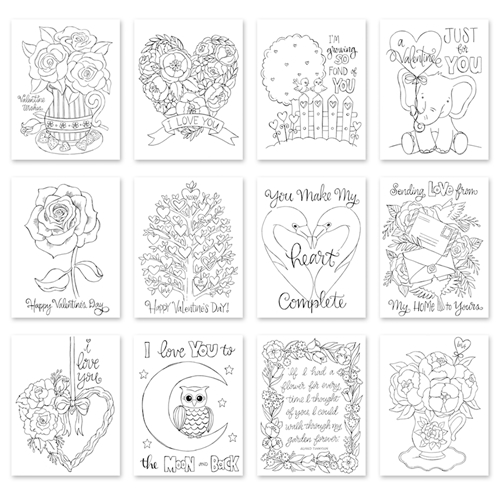 Simon Says Stamp Suzy's SENDING LOVE Watercolor Prints szval19 Preview Image
