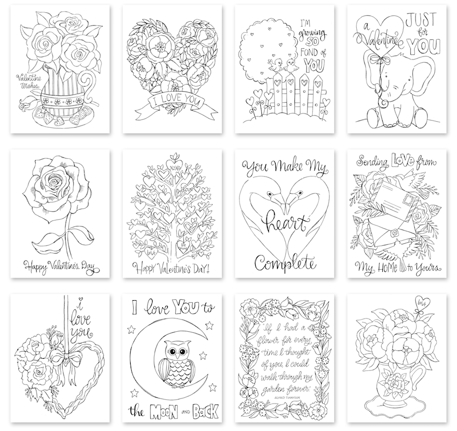 Simon Says Stamp Suzy's SENDING LOVE Watercolor Prints szval19 zoom image