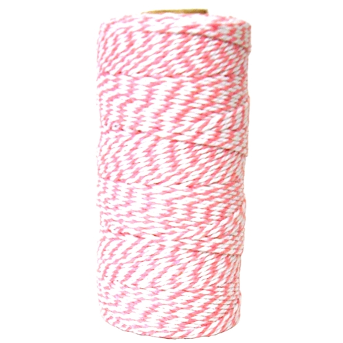 May Arts PINK Baker's Twine Twisted Ribbon 4120217* Preview Image