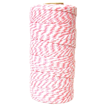 May Arts PINK Baker's Twine Twisted Ribbon 4120217