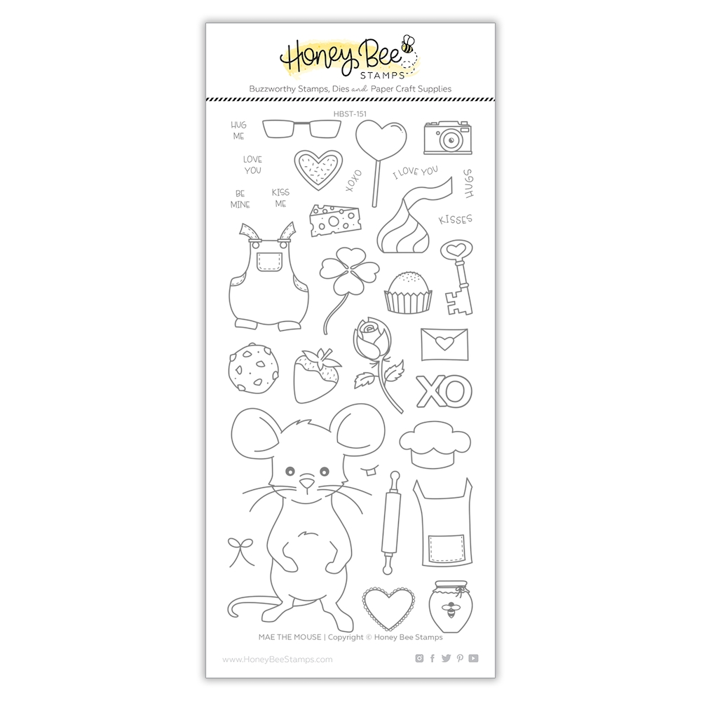 Honey Bee MAE THE MOUSE Clear Stamp Set hbst-149 zoom image