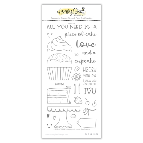 Honey Bee PIECE OF CAKE Clear Stamp Set hbst-151 Preview Image