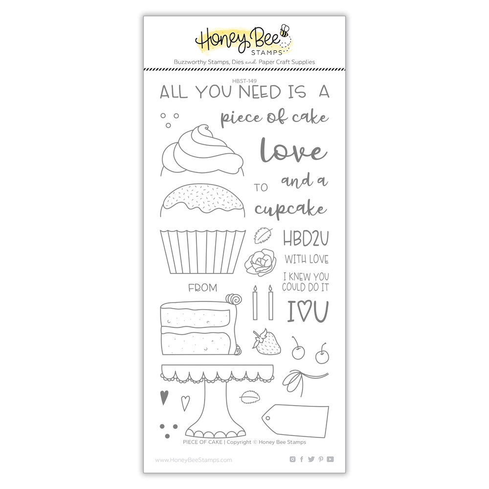 Honey Bee PIECE OF CAKE Clear Stamp Set hbst-151 zoom image