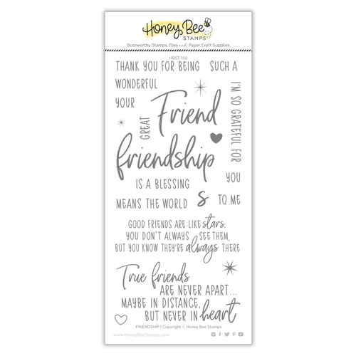 Honey Bee FRIENDSHIP Clear Stamp Set hbst-152 Preview Image