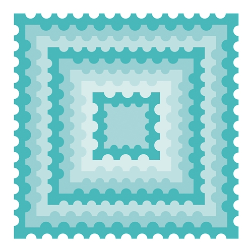 Honey Bee POSTAGE STAMP SQUARES Dies hbds-ps* Preview Image