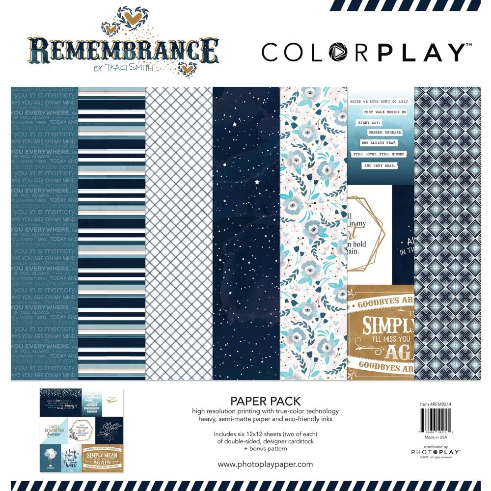 PhotoPlay REMEMBRANCE 12 x 12 Collection Pack ColorPlay rem9214 zoom image