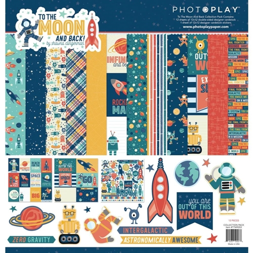 PhotoPlay TO THE MOON 12 x 12 Collection Pack ttm9203 Preview Image