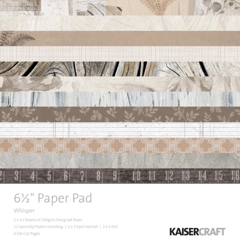 Kaisercraft WHISPER 6.5 Inch Paper Pad PP1060 zoom image