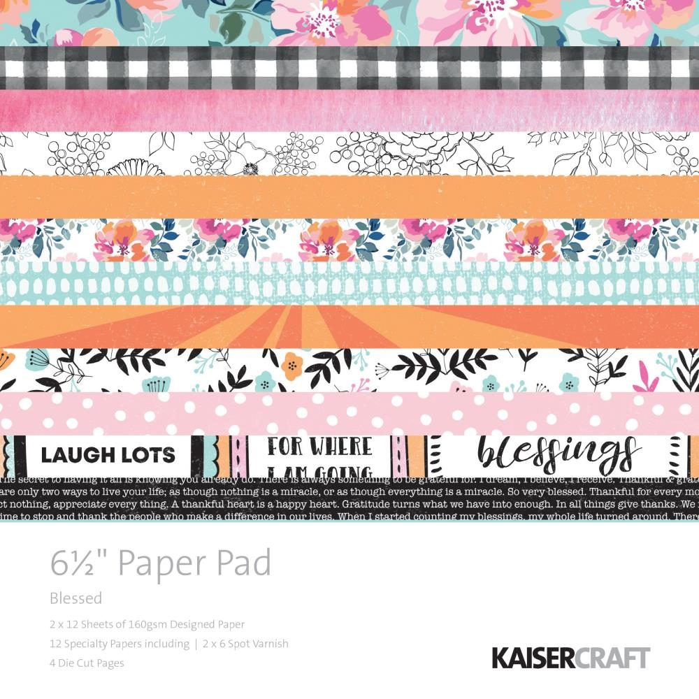 Kaisercraft BLESSED 6.5 Inch Paper Pad PP1059 zoom image