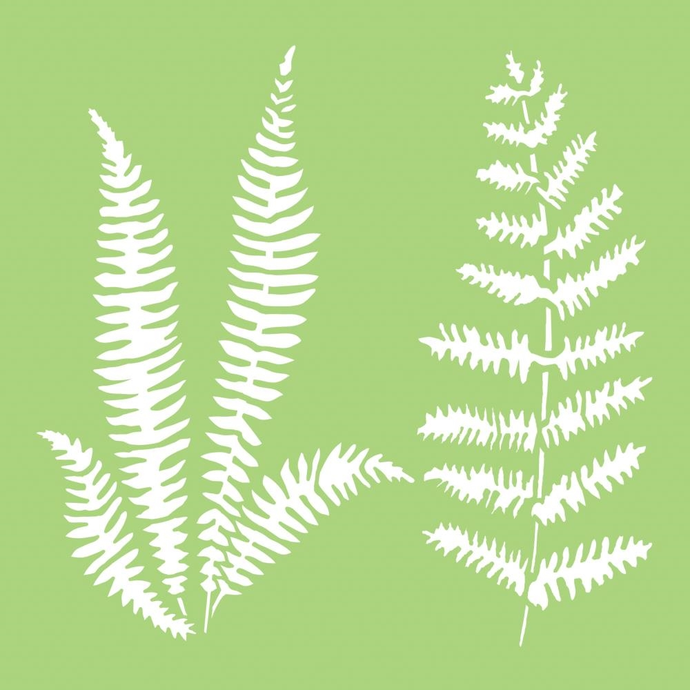 Kaisercraft FERNS 6x6 Inch Designer Stencil Template IT483 zoom image