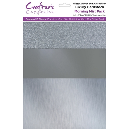 Crafter's Companion MORNING MIST Luxury Cardstock Pack cp-lmix-mist811 Preview Image