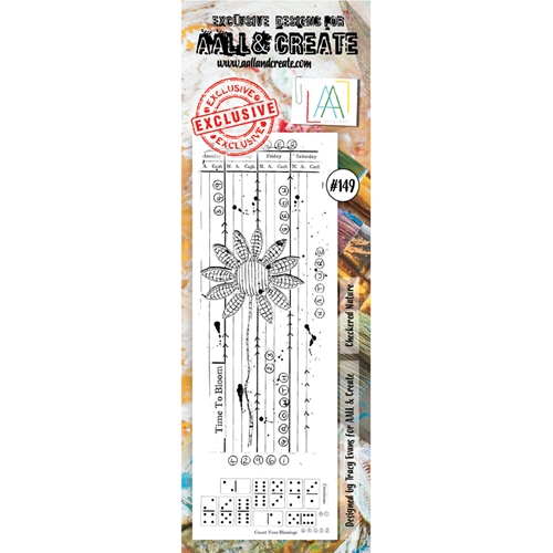 AALL & Create CHECKERED NATURE 149 Clear Stamp aal00149 Preview Image