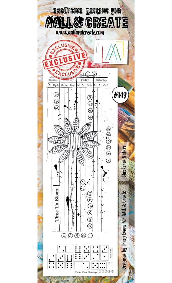 AALL & Create CHECKERED NATURE 149 Clear Stamp aal00149 zoom image