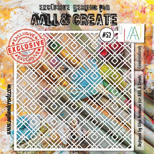 AALL & Create QUADRILATERALS Stencil 6x6 aal10052 Preview Image