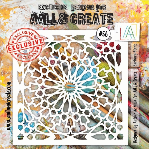 AALL & Create BARBARY STARS Stencil 6x6 aal10056 Preview Image