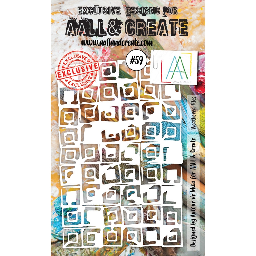 AALL & Create WEATHERED TILES Stencil 6x4 aal10059 zoom image