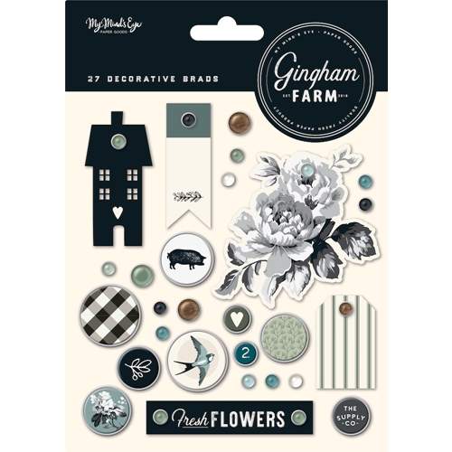 My Mind's Eye GINGHAM FARM Decorative Brads ghf112 Preview Image