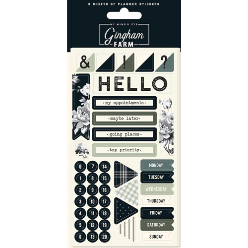 My Mind's Eye GINGHAM FARM Planner Sticker Set ghf121 Preview Image