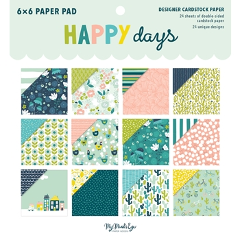 My Mind's Eye 6 x 6 HAPPY DAYS Paper Pad hpd110