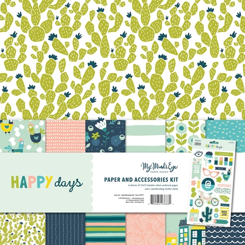 My Mind's Eye HAPPY DAYS 12 x 12 Paper And Accessories Kit hpd111 Preview Image