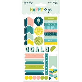 My Mind's Eye HAPPY DAYS Planner Sticker Set hpd121*