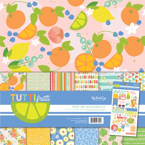 My Mind's Eye TUTTI FRUTTI 12 x 12 Paper And Accessories Kit tut111 Preview Image