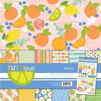 My Mind's Eye TUTTI FRUTTI 12 x 12 Paper And Accessories Kit tut111