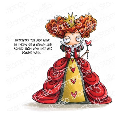 Stamping Bella Cling Stamp ODDBALL QUEEN OF HEARTS eb774 Preview Image