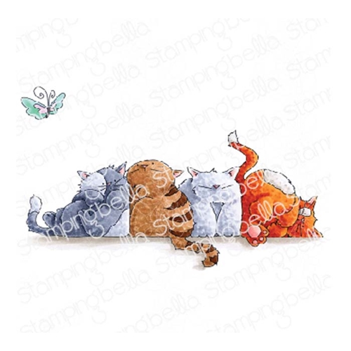 Stamping Bella Cling Stamp SQUISHY CATS eb780 Preview Image