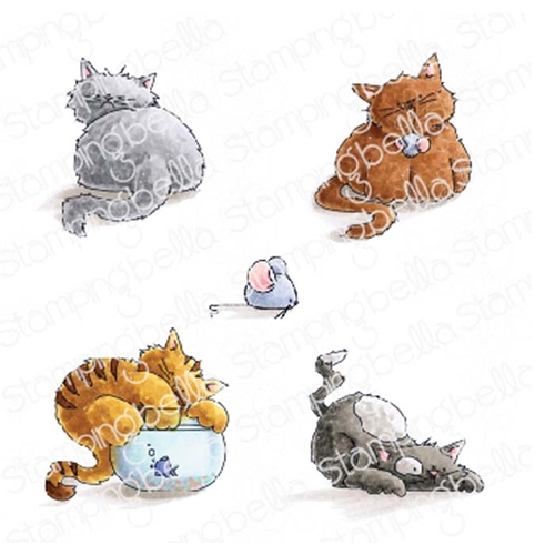 Stamping Bella Cling Stamp SET OF KITTENS eb778 Preview Image