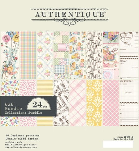 Authentique 6 x 6 SWADDLE GIRL Paper Pad swa010 Preview Image