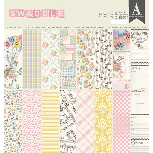 Authentique SWADDLE GIRL 12 x 12 Collection Kit swa011* Preview Image