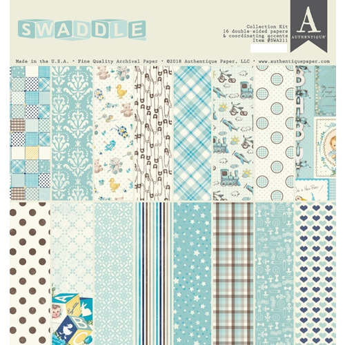 Authentique SWADDLE BOY 12 x 12 Collection Kit swa211 Preview Image