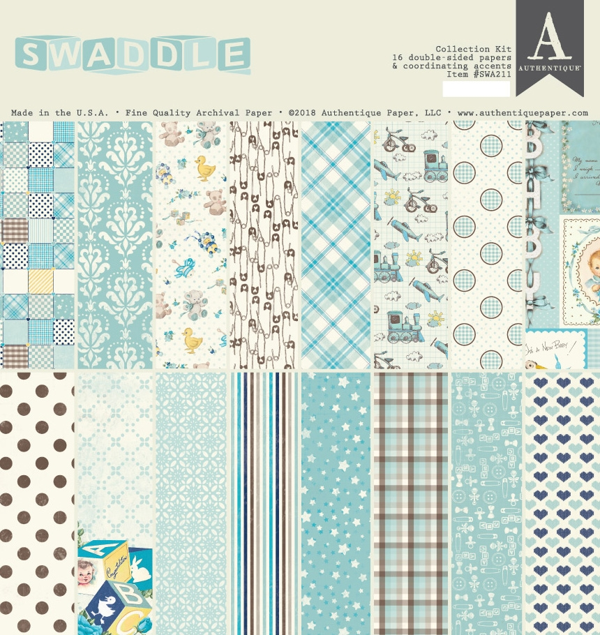 Authentique SWADDLE BOY 12 x 12 Collection Kit swa211 zoom image