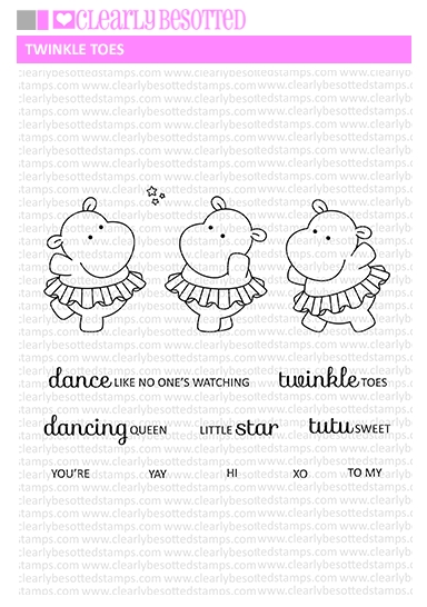 Clearly Besotted TWINKLE TOES Clear Stamps zoom image