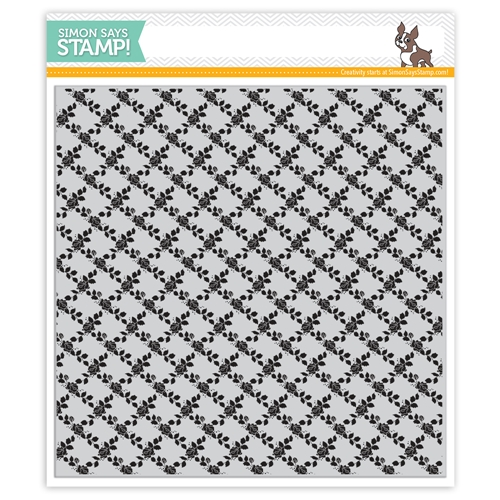 Simon Says Cling Rubber Stamp ROSE LATTICE BACKGROUND sss101969 Preview Image