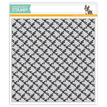 Simon Says Cling Rubber Stamp ROSE LATTICE BACKGROUND sss101969 *