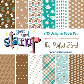 Your Next Stamp THE PERFECT BLEND 6X6 Paper Pack ynspp026