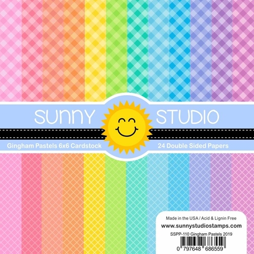 Sunny Studio PASTEL GINGHAM Paper Pad SSPP-110 Preview Image