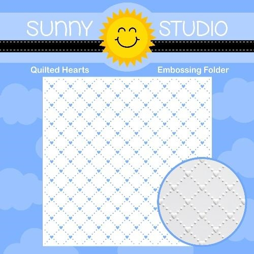 Sunny Studio QUILTED HEARTS Embossing Folder SSMB-103 zoom image