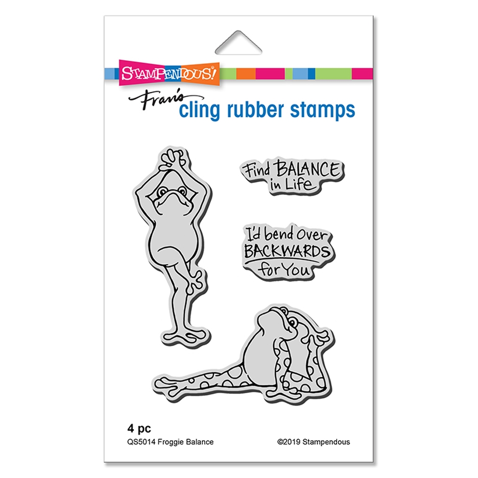 Stampendous Cling Stamp Set FROGGIE BALANCE qs5014 zoom image