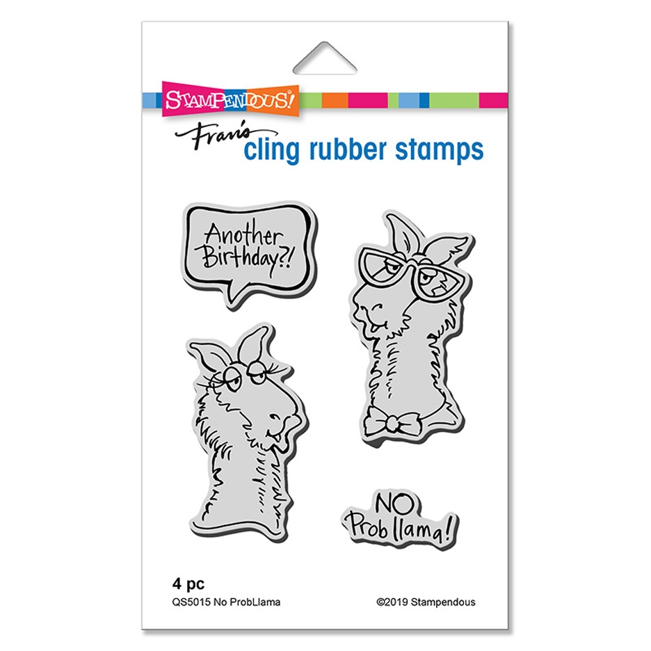 Stampendous No Probllama Cling Stamp Set