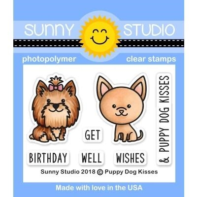 Sunny Studio PUPPY DOG KISSES Clear Stamps SSCL-224 Preview Image
