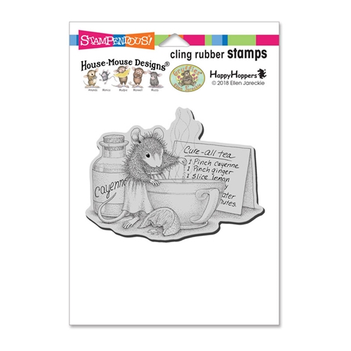 Stampendous, House Mouse Cure All Tea Cling Stamp