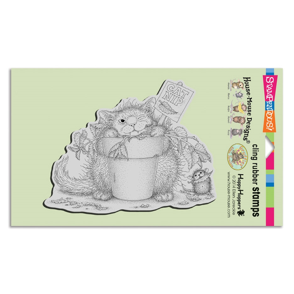 Stampendous, House Mouse Catnip Snack Cling Stamp