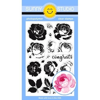 Sunny Studio EVERYTHING'S ROSY Clear Stamps SSCL-214
