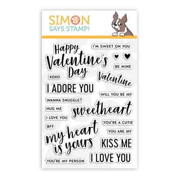 Simon Says Clear Stamps LOVE NOTES sss101967