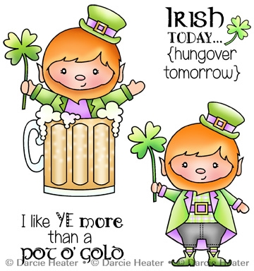 Darcie's IRISH TODAY Clear Stamp Set pol419 Preview Image