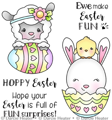 Darcie's EASTER SURPRISES Clear Stamp Set pol420 Preview Image
